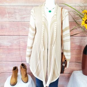 Ann Taylor pretty soft knit draped cardigan